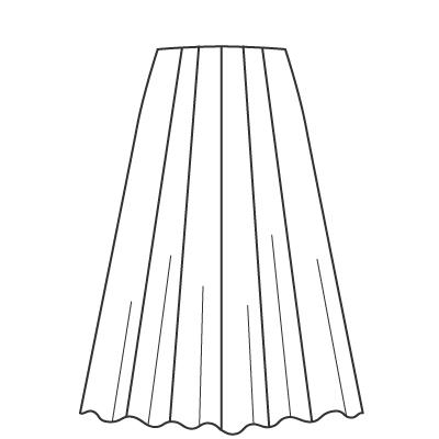 基本料金:デザインスカートデザイン例 オーダーメイドの洋服屋さん SU MISURA ス・ミズーラ