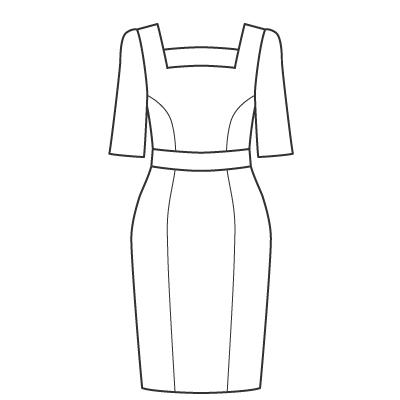基本料金:えりなしデザインワンピースデザイン例 オーダーメイドの洋服屋さん SU MISURA ス・ミズーラ