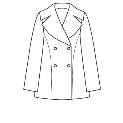 基本料金:ハーフコート(ひざ上丈)デザイン例 オーダーメイドの洋服屋さん SU MISURA ス・ミズーラ