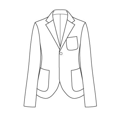 基本料金:ジャケットデザイン例 オーダーメイドの洋服屋さん SU MISURA ス・ミズーラ