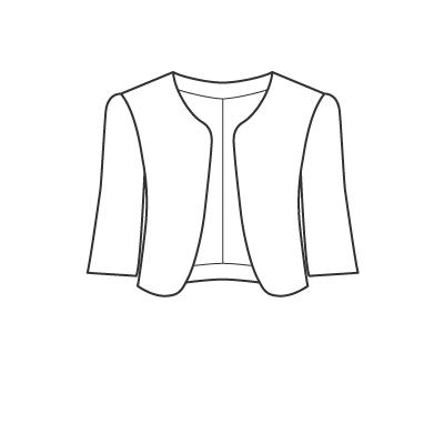 基本料金:えりなしジャケットデザイン例 オーダーメイドの洋服屋さん SU MISURA ス・ミズーラ