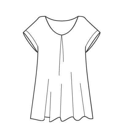 基本料金:えりなしシャツ・ブラウスデザイン例 オーダーメイドの洋服屋さん SU MISURA ス・ミズーラ