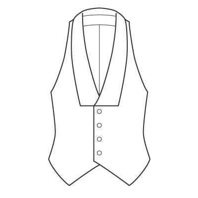 基本料金:ベストデザイン例 オーダーメイドの洋服屋さん SU MISURA ス・ミズーラ