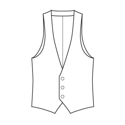 基本料金:えりなしベストデザイン例 オーダーメイドの洋服屋さん SU MISURA ス・ミズーラ